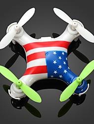 Drohne WL Toys V676A 4 Kan?le 6 Achsen LED - Beleuchtung Ausfallsicher Kopfloser Modus SchwebenFerngesteuerter Quadrocopter Fernsteuerung