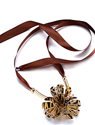 Women's Choker Necklaces Crystal Circle Geometric Tulle Crystal Copper IronstoneFlowers Heart Natural Friendship Gothic Crossover Punk