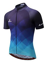 Miloto Maglia da ciclismo Per uomo Manica corta Bicicletta Maglietta/Maglia Striscia riflettente Asciugatura rapida Traspirabilità