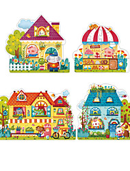 Jigsaw Puzzles Jigsaw Puzzle Building Blocks DIY Toys Square Paper Four in One