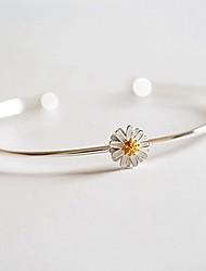 Women's Cuff Bracelet Jewelry Fashion Copper Flower Jewelry ForWedding Party Special Occasion Halloween Anniversary Birthday