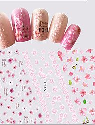 1pcs New Fashion Sweet Style Pink Flower Nail Art 3D Sticker Beautiful Flower Design Charming Decoration Manicure DIY Beauty F245