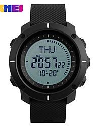 Men's Sport Watch Digital Watch Digital PU Band Black Green Grey