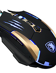 SIDLES Q6 7Keys 3500DPI USB Backlit Game Mouse With 180CM Cable