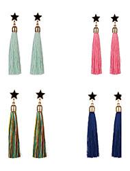 Women's Drop Earrings Acrylic Tassel Alloy Star Jewelry For Dailywear Stage