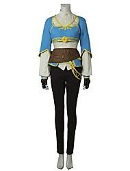 Inspirado por The Legend of Zelda Fantasias Vídeo Jogo Fantasias de Cosplay Ternos de Cosplay FashionCamisa Blusa Calças Luvas Avental