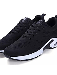 Women's Athletic Shoes Comfort Tulle Spring Fall Casual Walking Comfort  Flat Heel Gray White 2in-2 3/4in
