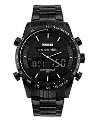 SKMEI Муж. Модные часы Наручные часы электронные часы Цифровой Календарь Защита от влаги Крупный циферблат Нержавеющая сталь Группа Cool
