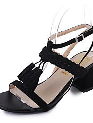 Women's Sandals Comfort PU Summer Casual Comfort Light Brown Black 2in-2 3/4in