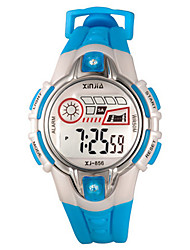 Kid's Digital Watch Digital Rubber Band White Green