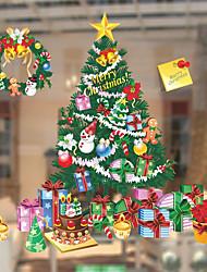Window Film Window Decals Style Christmas Tree Gift PVC Window Film