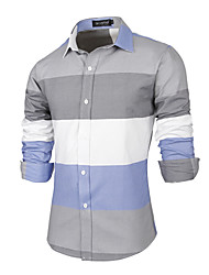 Men's Wedding Party Sports Beach Holiday Going out Casual/Daily Work Club Simple Boho Chinoiserie All Seasons Shirt,Striped Color Block