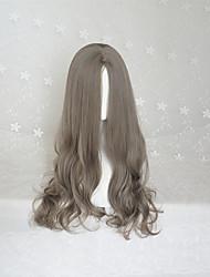 Korean Style Lolita  Aoki Linen Middle Long Curly Lolita Wig