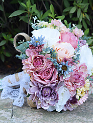 Свадебные цветы Букеты Свадебное белье Бусины Кружево 30 см