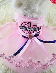 Chien Robe Vêtements pour Chien Soirée Décontracté / Quotidien Princesse Bleu Rose