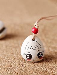 Saco / telefone / chaveiro charme menina jingle bell cartoon brinquedo cerâmica