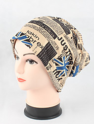Women's Cotton Beanie Floppy Hat Headwear Cute Casual Daily Knitwear Solid Print Fall Winter Knitting Cap Scarf Green/Blue/Wine