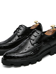Men's Shoes PU Summer Fall Comfort Light Soles Formal Shoes Oxfords For Casual Office & Career Black Silver Red