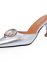Women's Sandals Comfort Rubber Summer Outdoor Comfort Low Heel Dark Brown Silver Black Under 1in