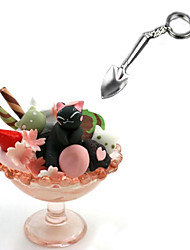 Mini Ice Cream Spoon Shovel Shovel Key Organizer Metal Spade Simulation Tools Key Holder Ring Chain Gift