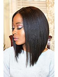 150% Denisty Virgin Hair Lace Front Short Bob Wigs Yaki Straight Lace Front Human Hair Wigs Brazilian Human Hair Short Bob Wigs
