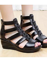 Mujer Sandalias Confort Cuero Verano Casual Confort Negro 5 - 7 cms