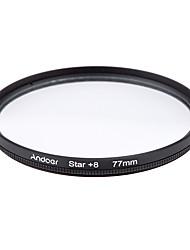 Conjunto de filtro de 77mm e uver cpl estrela Kit de filtro de 8 pontos com estojo para lente de câmera canon nikon sony dslr