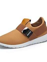 Для мужчин Спортивная обувь Удобная обувь Лайкра Весна Лето Осень Повседневные Для прогулок Удобная обувь Ленты На плоской подошвеЧерный