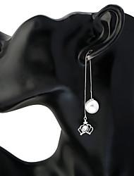 Жен. Серьги-слезки Серьги-кольца В виде подвески Цветочный принт Металлический сплав Стразы Круглой формы Бижутерия НазначениеНа каждый