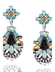 Euramerican Fashion Casual Unique Luxury Female Statement Jewelry Ladies Elegant Drop Earrings For Women Bohemian Dangle Earrings Resin Rhinestone