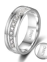 Lovers Rings lettering glossy men and women custom rings
