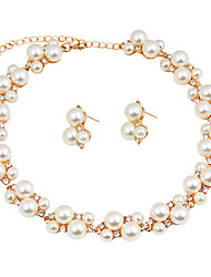 Women's Jewelry Set Pearl Necklace Bridal Jewelry Sets Imitation Pearl Imitation Pearl Euramerican Fashion ClassicImitation Pearl