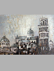 IARTS® Modern Abstract Oil Painting Vintage The Leaning Tower in Pisa Picture with Stretched Frame Handmade Oil Painting For Home Decoration Ready To