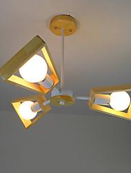 Luz de colgante, característica de madera moderna / contemporánea del país para la madera llevada / bambú sala de estar dormitorio comedor