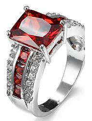 Ring Settings Ring Luxury Zircon Flower Women's 5 Colors  Rhinestone Euramerican Fashion Daily Party Movie Jewelry