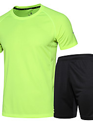 Men's Running T-Shirt Short Sleeves Fitness, Running & Yoga Quick Dry Clothing Suits for Running/Jogging Exercise & Fitness Fitness Loose