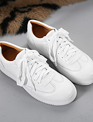 Women's Sneakers Comfort PU Spring Casual White Under 1in