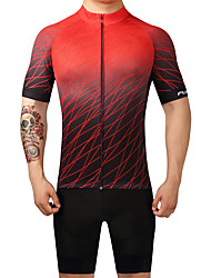 FUALRNY 2017 New Cycling Jersey with Bib Shorts Men's Short Sleeve Bike Breathable Quick Dry  Clothing Sets/Suits LYCRA® Coolmax