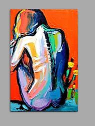 Peint à la main Nu Format Vertical,Abstrait Un Panneau Toile Peinture à l'huile Hang-peint For Décoration d'intérieur