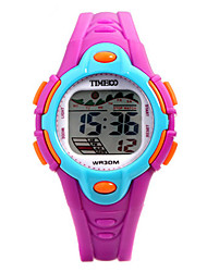Kid's Fashion Watch Digital Watch Digital Rubber Band Black Purple
