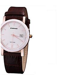 Mulheres Relógio de Moda Quartzo Couro Banda Casual Preta