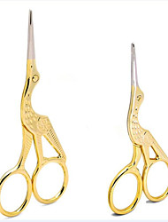 1pcs New Fashion Creative Design High Quality Gold Scissors Lovely Animal Crane Stainless Steel Scissors Professional DIY Beauty Tools Accessories