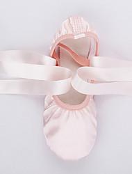 Femme Ballet Soie Plates Entraînement Rose