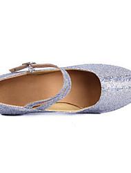 Women's Latin PU Heels Practice Silver