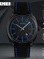 SKMEI  Fashion Casual Sport Watches Men Waterproof Leather Quartz Watch
