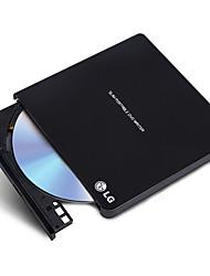 Lg 8x usb2.0 interface externo dvd drive queimador janelas 8 e mac sistema operacional gp65nb60