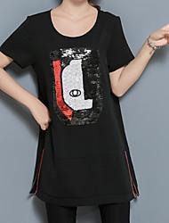 T-shirt Da donna Casual Per uscire Ufficio Semplice Punk & Gotico Estate,Modello Rotonda Altro Manica corta