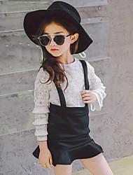 Girls' Jacquard Sets,Rayon Spring Summer Fall Long Sleeve Clothing Set