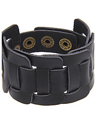 Women's Men's Leather Bracelet Jewelry Natural Friendship Gothic Movie Jewelry Handmade Punk Hip-Hop Rock Genuine Leather Circle Geometric