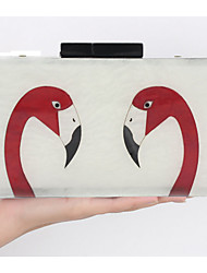 Women Evening Bag PC All Seasons Rectangle Magnetic White